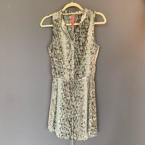 Eight Sixty Snakeskin Print Dress, XS